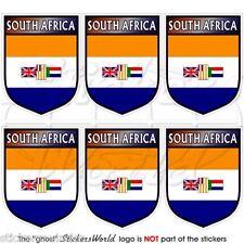 SOUTH AFRICA African Former Shield 40mm Mobile Cell Phone Mini Sticker, Decal x6