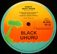 "Black Uhuru Party Next Door 12""UK ORIG 1983 Reggae Island Party In Session VINYL"