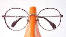 Brillen Fassung Metall Gestell Erdfarben rundlich Marke Menrad 70er size M