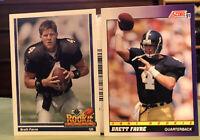 Brett Favre RC Lot 1991 Upper Deck #647 1991 Score #611 HOF Packers Vikings