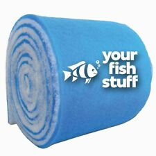 "10-ft ROLL Blue Bonded Aquarium Media Pad 12"" x 10' Fiber Floss Filter Material"