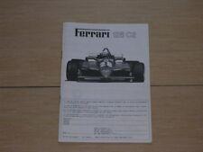 1/12 Protar Provini Ferrari 126/C2 Original Instructions Manual New!!