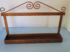 VINTAGE METAL SPICE RACK, COUNTRY KITCHEN CHIC,RACK READS, SAVOR,CELEBRATE,ENJOY