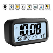 Projection Digital Time Calendar Weather Snooze Alarm Clock w/ LED Backlight USA