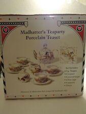 Paul Cardew Alice In Wonderland Madhatter's Teaparty Porcelain Teaset 12 Pc