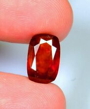3.6 Ct Top Natural Orange Hessonite Garnet Cut Cushion Cabochon Gemstone  A611