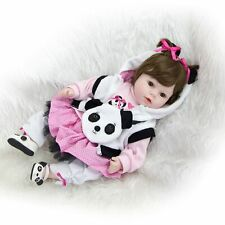 Reborn Baby Doll Silicone Dolls 55cm Toy Toddler Newborn Gift Toys Real 22''