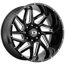4 Vision 361 Spyder 20x10 6x55 25mm Blackmilled Wheels Rims 20 Inch Fits More Than One Vehicle