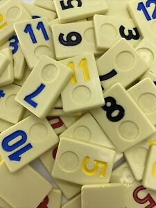 Rummikub Tiles Individual Smooth Back Replacement Game Pieces Pick What You Need