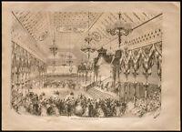 1860 - Napoléon III - Toulon - Bal - Costumes de bal - gravure