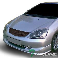 Topline For 2002 2005 Civic Si Ep3 Hatchback T R Mesh Front Grille Matte Black Fits 2004 Honda Civic