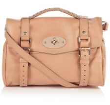 Mulberry Alexa Handbag Pink Plaster Leather Rose Gold Shoulder Medium Turn Lock