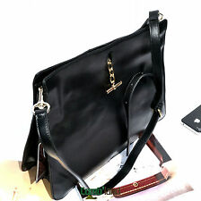 Women's Genuine Leather Handbag Cross Shoulder Bag handle clutch black 2922