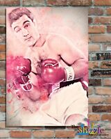 ROCKY MARCIANO BOXING LEGEND, Custom Designed Metal Wall Sign-2 sizes(#1)