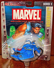 Wolverine Motorcycle 1/18 Wide Wheel X-Men Marvel Blue SEALED NEW 2003 TOY