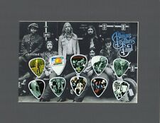 Allman Brothers Matted Picture Guitar Pick Blue Sky Ramblin' Man At Filmore East
