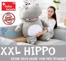 Hippo Nilpferd Flusspferd Plüsch Plüschtier XXL Kuscheltier Geschenk Grau Pink