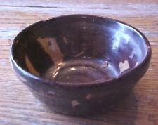 Early Redware Bowl Brown yellow glaze