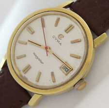 27 Jewels Swiss made Cyma Navy-star Automatic Men's vintage wind up watch .