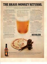Vintage advertising print Alcohol Heublein Cocktails the Brass Monkey Returns 71