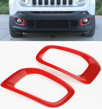 For Jeep Renegade 2015-2018 Red ABS Car Front Fog Light Lamp Frame Cover Trim