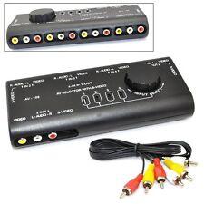 4 in 1  Audio Video AV Signal Switcher TV Splitter S-Video Selector w/ RCA Cable