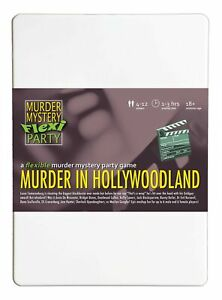 Murder in Hollywoodland Murder Mystery Flexi Party 4-12 Players