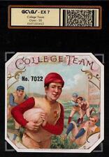1890 Football - College Team - SUPERB ORIGINAL EX  RARE Cigar Box Label #1613