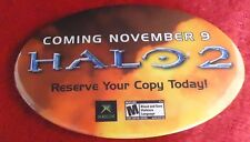 HALO 2 XBOX Launch Promotional Pin Button Badge Coming November 9 NEW