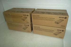 5~Xerox Phaser 6280 Toner Cartridges 2~106R01389 106R01390 106R01391 106R01388