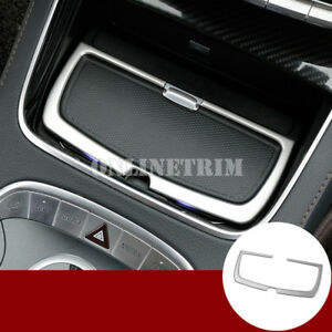 Stainless Console Water Cup Holder Cover Trim For Benz S Class W222 2014-2019