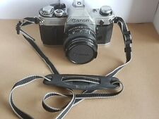 Canon AE-1 35mm SLR Film Camera with FD 50mm Lens - Silver. Good Working Order