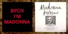 MADONNA Rebel Heart 2015 Ltd Ed RARE New Sticker +FREE Pop/Dance Stickers Lot!