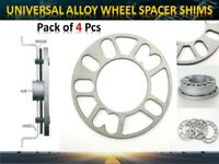 4x 3mm Alloy Wheel Spacers/Shims Universal, fit most 4/5 stud wheels