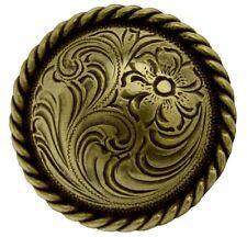 "New listing Set of 6 Western Antique Brass Round Rope Edge Saddle Conchos 1-1/2"" screw back"