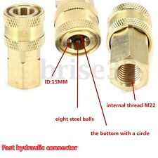 """Pressure Washer 1/4"""" Female NPT Brass Quick Connect Coupler for Cleaning Machine"""