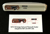 1975 - 1976 DODGE DART & PLYMOUTH DUSTER GAUGE FACES for 1/25 scale AMT MPC kits