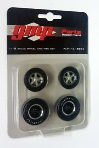 GMP 1/18 Scale - Gasser Hot Rod Drag Wheel & Tyre Set Model Cars Diorama Set