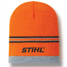 STIHL Orange Striped Beanie Hat Cap
