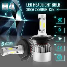 PAIR COB 288W H4 9003 28800LM LED Headlight Kit Bulbs Fog Lamp Hi-Low Beam 6000K