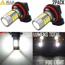 Alla Lighting 4014 54-SMD H11 H8 6000K Xtremely Super White LED Fog Lights Bulbs