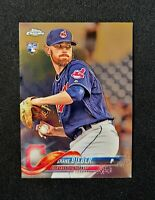 2018 Topps Chrome Update SHANE BIEBER RC ROOKIE HMT59 Indians QUANTITY FREE SHIP