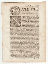 1677, July 17, Original French Gazette with news from Europe