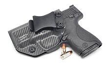 S&W M&P SHIELD 9/40 KYDEX IWB Gun Holster (Carbon Fiber Storm Grey - Left Hand)