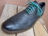 COLE HAAN Mens Casual Dress Shoes Soft Blue Gray Leather Wingtip Oxford Size 11M