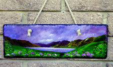 "Original Painting on Slate plaque ""Lakeside Walk"" by Judith Rowe"
