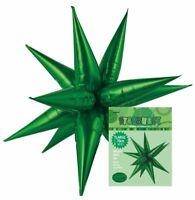 """GREEN GLITZ STARBURST FOIL BALLOON 70CM/27.5"""" BIRTHDAY PARTY SUPPLIES"""