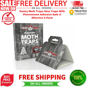 Pantry Moth Traps Glue Traps With Pheromones Adhesive Safe Effective 8 Pack✅