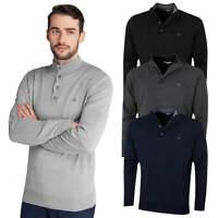 Calvin Klein Mens CK Button Down Soft Warm Crew Neck Sweater 44% OFF RRP