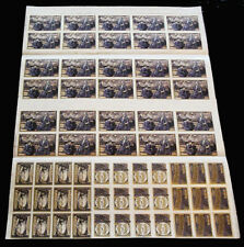 1914-16 WWI Delandre sheet - 4 different designs - RARE